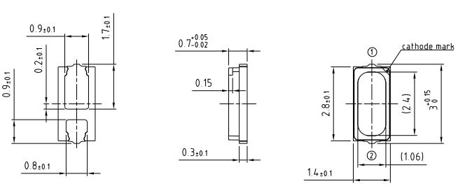 E3(3014)白光led灯珠规格图