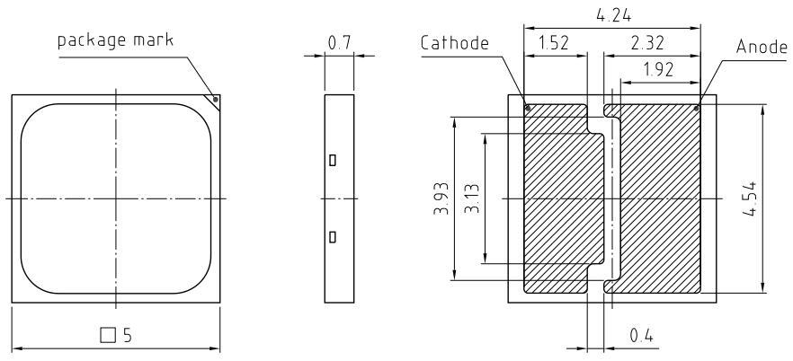 S8(5050)白光led灯珠规格图